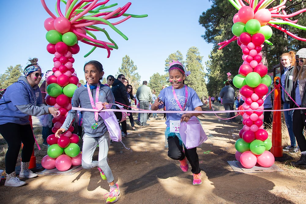 Girls on the Run of Northern Arizona celebrated its 10th anniversary  Saturday, Nov. 10, 2018 with the 5K run at Fort Tuthill County Park in Flagstaff, Arizona. Photo by Sean Openshaw / www.SeanOpenshaw.com.